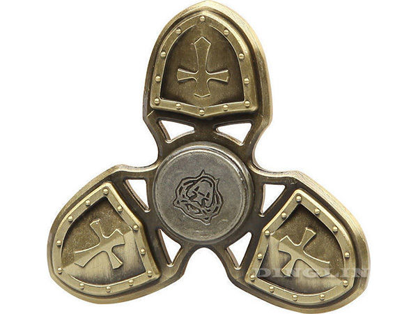 Fidget-Spinner-Metal-Medieval-3-Leaves-Χρυσαφί