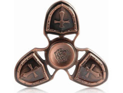 Fidget-Spinner-Metal-Medieval-3-Leaves-μπρονζε