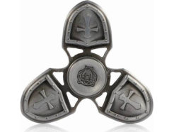 fidget-spinner-metal-medieval-3-leaves-ασημι