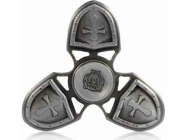 fidget-spinner-metal-medieval-3-leaves-ασημι
