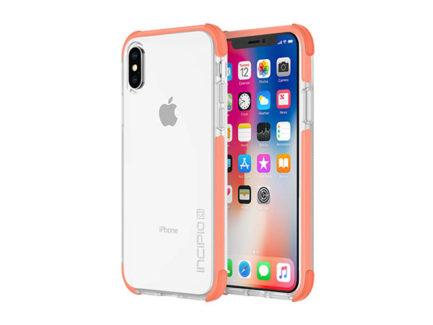Incipio-Reprieve-Sport-Coral_Clear-Case-for-iPhone-X